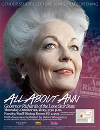 Galerstein Center and Gender Studies to Screen 'All About Ann'