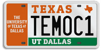 UT Dallas License Plate