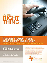 UT Dallas Ethics and Compliance Hotline Is Available 24/7