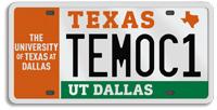 UT Dallas Specialty License Plate