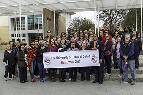 UT Dallas Heart Walk Participants