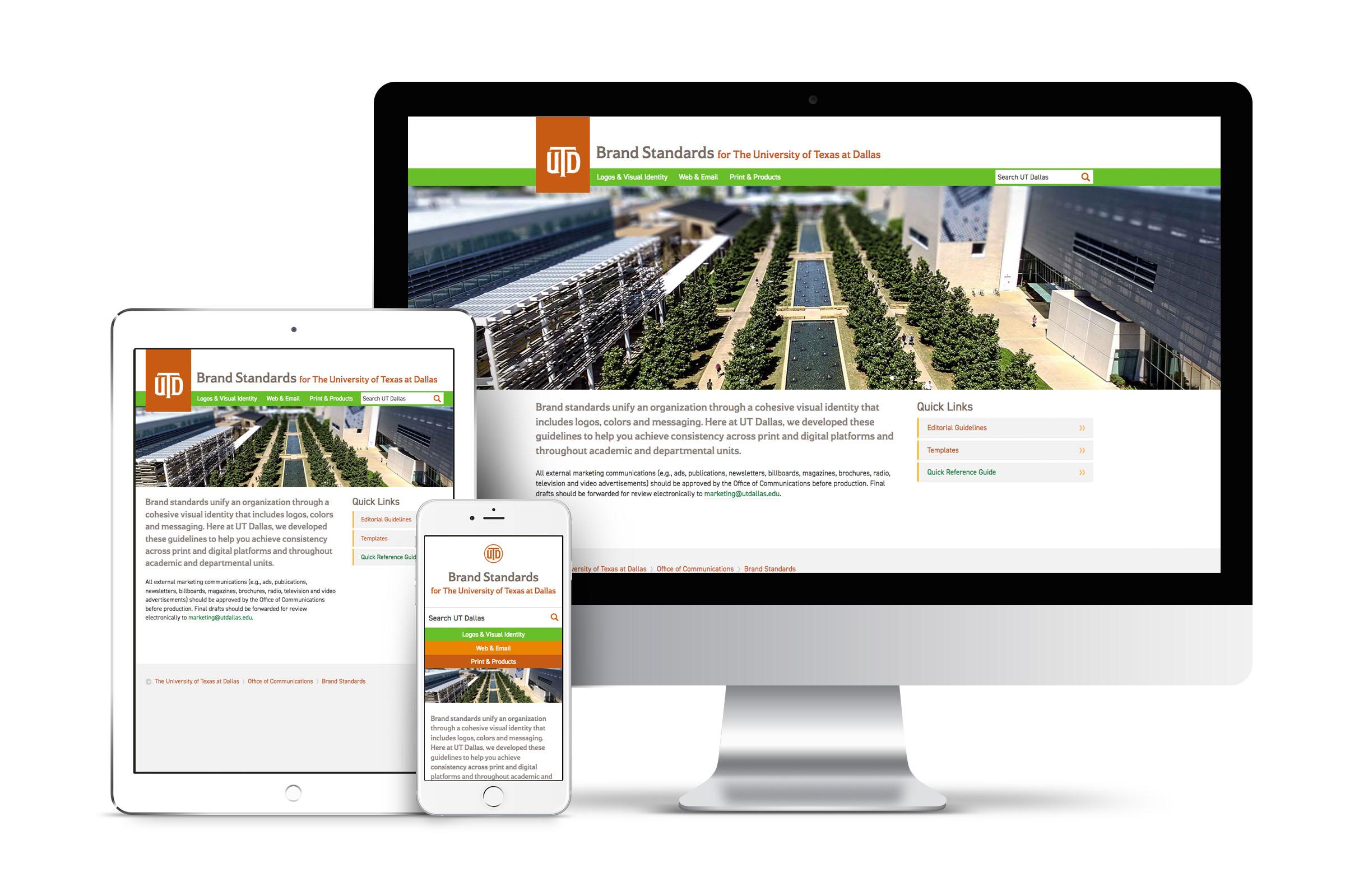 UT Dallas Brand Website
