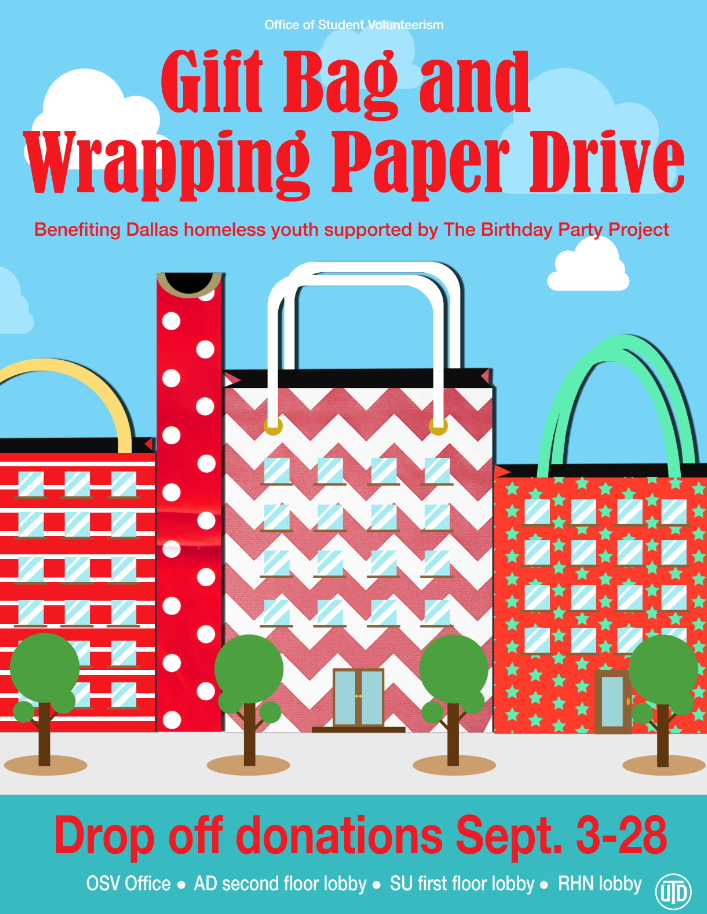 Gift Bag and Wrapping Paper Drive