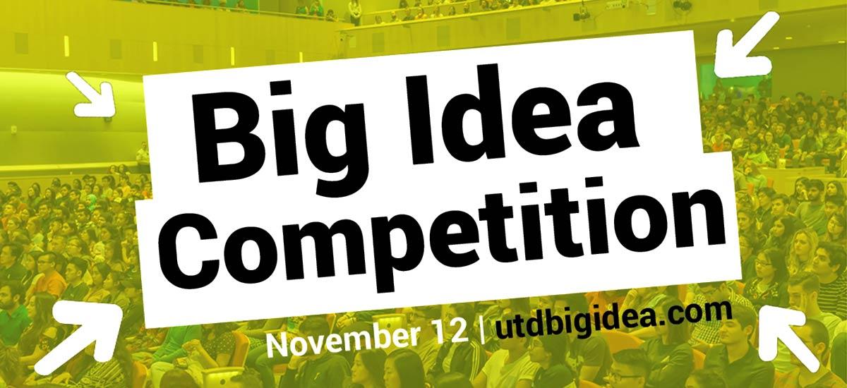 Big Idea Competition - November 12 - utdbigidea.com